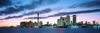 Toronto Skyline from the lake, Ontario Canada Framed Print