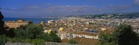 Aerial View Of A City, Nice, France Fine Art Print