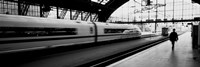 Train leaving a Station, Cologne, Germany Fine Art Print