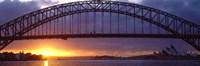 Sydney Harbor Bridge, Sydney, New South Wales, United Kingdom, Australia Fine Art Print