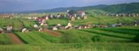 High angle view of houses in a field, Tatra Mountains, Slovakia Fine Art Print