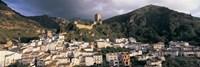 Buildings on a hillside, Cazorla, Andalucia, Spain Fine Art Print
