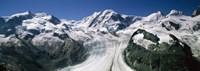 Snow Covered Mountain Range and Glacier, Matterhorn, Switzerland Fine Art Print