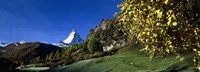 Low angle view of a snowcapped mountain, Matterhorn, Valais, Switzerland Fine Art Print