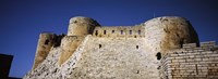 Low angle view of a castle, Crac Des Chevaliers Fortress, Crac Des Chevaliers, Syria Fine Art Print