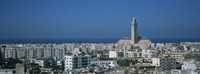 High angle view of a city, Casablanca, Morocco Fine Art Print