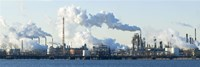 Oil refinery at the waterfront, Delaware River, New Jersey, USA Fine Art Print