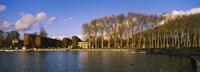 Trees along a lake, Chateau de Versailles, Versailles, Yvelines, France Fine Art Print