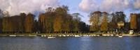 Boats in a lake, Chateau de Versailles, Versailles, Yvelines, France Fine Art Print