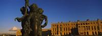 Statues in front of a castle, Chateau de Versailles, Versailles, Yvelines, France Fine Art Print