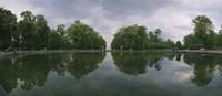 Reflection of trees in a pond, Versailles, Paris, Ile-De-France, France Fine Art Print