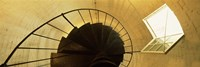Low angle view of a spiral staircase of a lighthouse, Key West lighthouse, Key West, Florida, USA Fine Art Print