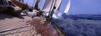 Sailboats in the sea, Antigua, Antigua and Barbuda Fine Art Print