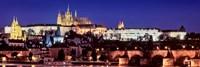 Charles Bridge, Hradcany Castle, St. Vitus Cathedral, Prague, Czech Republic Fine Art Print