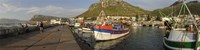 Fishing boats at a harbor, Kalk Bay, False Bay, Cape Town, Western Cape Province, South Africa Fine Art Print