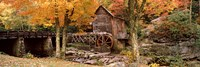 Power station in a forest, Glade Creek Grist Mill, Babcock State Park, West Virginia, USA Fine Art Print