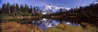 Mt Shuksan, Picture Lake, North Cascades National Park, Washington State, USA Fine Art Print