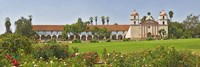 Garden in front of a mission, Mission Santa Barbara, Santa Barbara, Santa Barbara County, California, USA Fine Art Print
