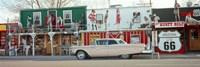 Car on the road, Route 66, Arizona, USA Fine Art Print