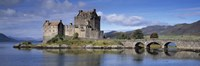 Castle on an island, Eilean Donan, Loch Duich, Dornie, Highlands Region, Scotland Fine Art Print