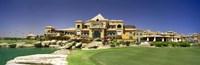 Facade of a golf course, The Cascades Golf & Country Club, Soma Bay, Hurghada, Egypt Fine Art Print