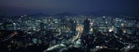 Aerial view of a city, Seoul, South Korea 2011 Fine Art Print