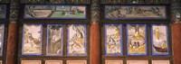 Paintings in a Buddhist temple, Kayasan Mountains, Haeinsa Temple, Gyeongsang Province, South Korea Fine Art Print