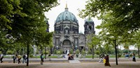 People in a park in front of a cathedral, Berlin Cathedral, Berlin, Germany Fine Art Print