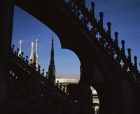 Low angle view of a cathedral, Duomo Di Milano, Milan, Lombardy, Italy Fine Art Print