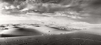 Sahara Desert landscape, Morocco (black and white) Fine Art Print