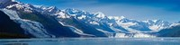 Snowcapped mountains at College Fjord of Prince William Sound, Alaska, USA Fine Art Print