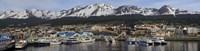 Boats at a harbor, Ushuaia, Tierra Del Fuego, Patagonia, Argentina Fine Art Print