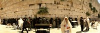 People praying in front of the Wailing Wall, Jerusalem, Israel Fine Art Print