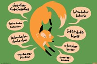 Snorg Tees - The Fox Says Wall Poster