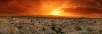Sunset over a desert, Palm Springs, California, USA Fine Art Print