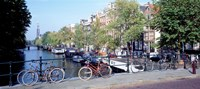 Netherlands, Amsterdam, bicycles Fine Art Print