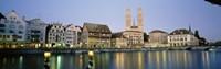 Evening, Cityscape, Zurich, Switzerland Fine Art Print