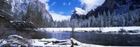 USA, California, Yosemite National Park, Flowing river in the winter Fine Art Print