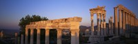 Turkey, Pergamum, temple ruins Fine Art Print