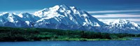 Snow covered mountain in Denali National Park AK Fine Art Print