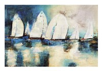 Velero Azul Fine Art Print