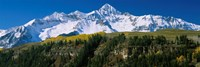 Snowcapped mountains on a landscape, Wilson Peak in autum, San Juan Mountains, near Telluride, Colorado Fine Art Print