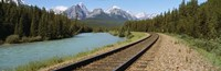 Railroad Tracks Bow River Alberta Canada Fine Art Print