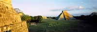 Pyramids at an archaeological site, Chichen Itza, Yucatan, Mexico Fine Art Print