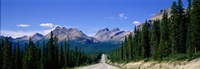 Road In Canadian Rockies, Alberta, Canada Fine Art Print