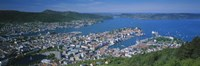 High angle view of a city, Bergen, Hordaland, Norway Fine Art Print