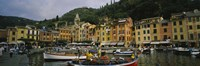 Fishing boats at the harbor, Portofino, Italy Fine Art Print