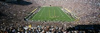 Aerial view of a football stadium, Notre Dame Stadium, Notre Dame, Indiana, USA Fine Art Print