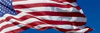Close-up of an American flag fluttering, USA Fine Art Print