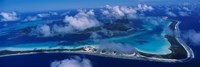 Aerial View Of An Island, Bora Bora, French Polynesia Fine Art Print